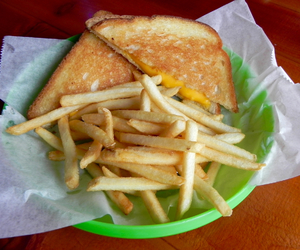 French Fries and grilled cheese image