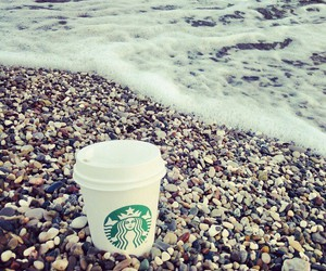 beach and starbucks image
