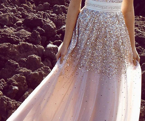 dress, glitter, and Prom image