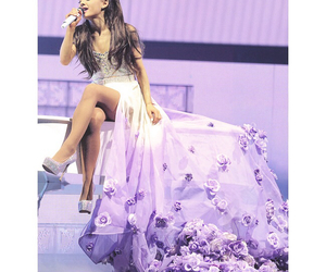 ariana grande, purple, and arianagrande image