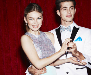 best friends, bow tie, and cute couple image