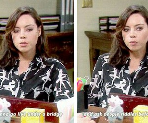 Finale, parks and rec, and april ludgate image