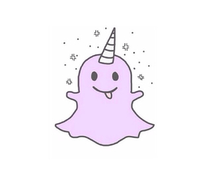 snapchat, unicorn, and overlay image
