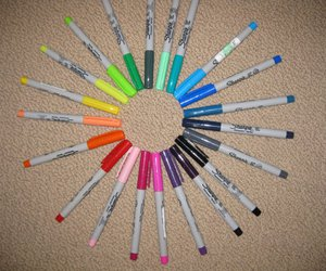 colorful, rainbow, and sharpies image