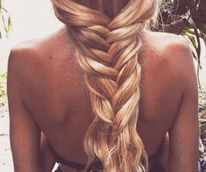 blonde, braid, and Easy image