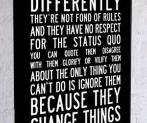 change the world, quotes, and Steve Jobs image