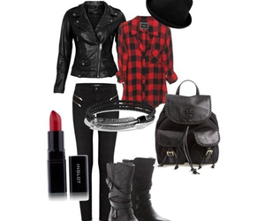 biker, black, and boots image