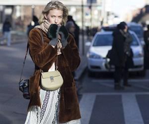 camera, coat, and chic image