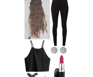 black, clothes, and crop image