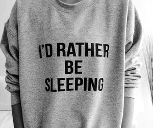 sleep, sleeping, and sweater image