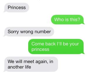 princess, love, and text image