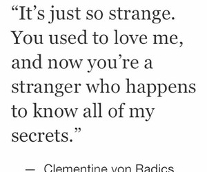 love, quotes, and stranger image
