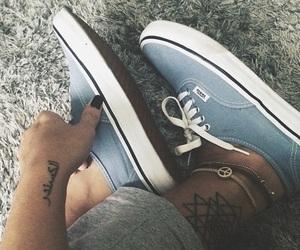 vans, fashion, and tattoo image