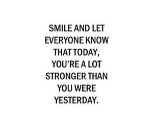 smile and strong image