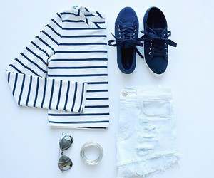 shorts, striped, and spring image