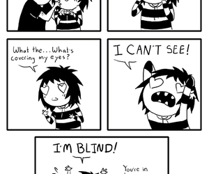 blind, comic, and love image