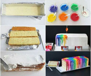 cake, diy, and colors image