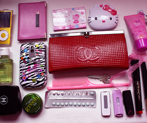 blackberry, chanel, and hello kitty image