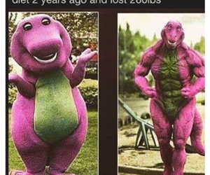 barney, funny, and lol image
