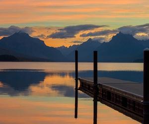 lake, photography, and mountains image