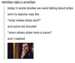 ship, canon, and fandom image