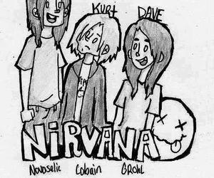 nirvana, kurt cobain, and dave grohl image