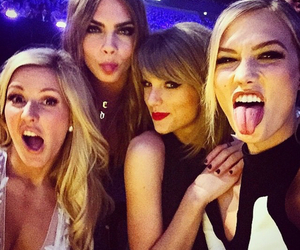 Taylor Swift, Ellie Goulding, and cara delevingne image