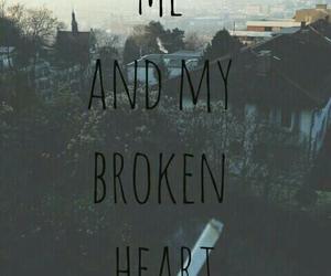 broken heart and heart image