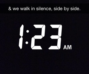 am, side by side, and silence image