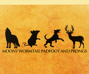 harry potter, sirius black, and prongs image