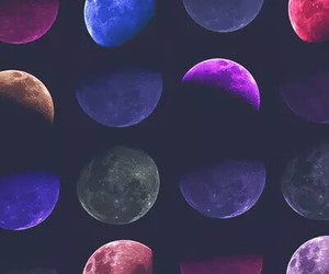 background, grunge, and moons image