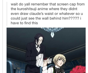 anime, black butler, and funny image