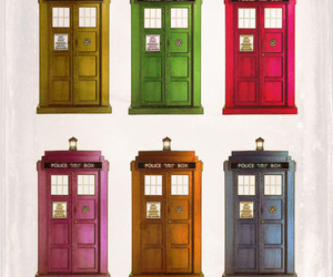 tardis, doctor, and blue image