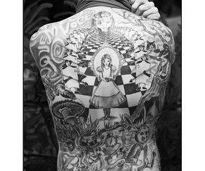 alice in wonderland and tattoo image