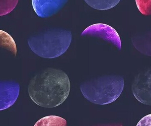 moon, colors, and colours image