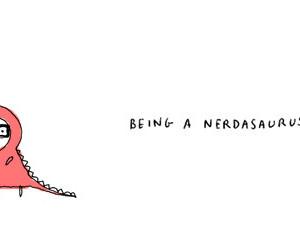 nerd, nerdasaurus, and dinosaur image