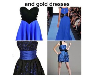 dress, blue and black, and funny image