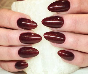 dark, nails, and red image