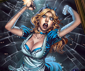 alice in wonderland and twisted alice image