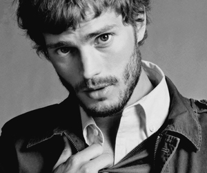 black and white, Jamie Dornan, and 50 shades of grey image
