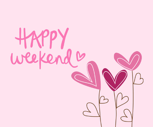 weekend, happy, and pink image