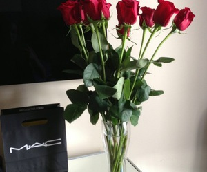 rose, mac, and flowers image