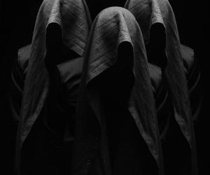 black, dark, and creepy image