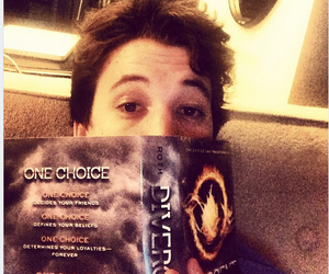 divergent, miles teller, and reading image
