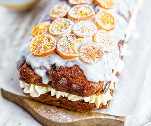 cake, olive oil, and orange image