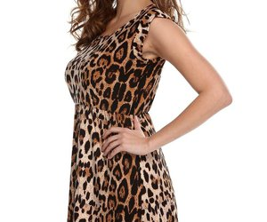 casual, dress, and leopard image