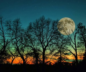 colors, magical, and moon image