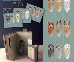 book, owl, and bookmark image