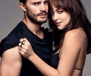 couple, fifty shades of grey, and love image