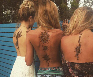 best friends, tattos, and chicas image